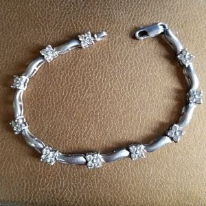 Jewelry - Sterling silver and CZ diamond bracelet